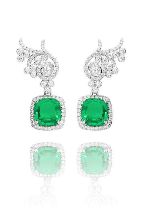 Flora Emerald Detachable Drops Drops Lark and Berry