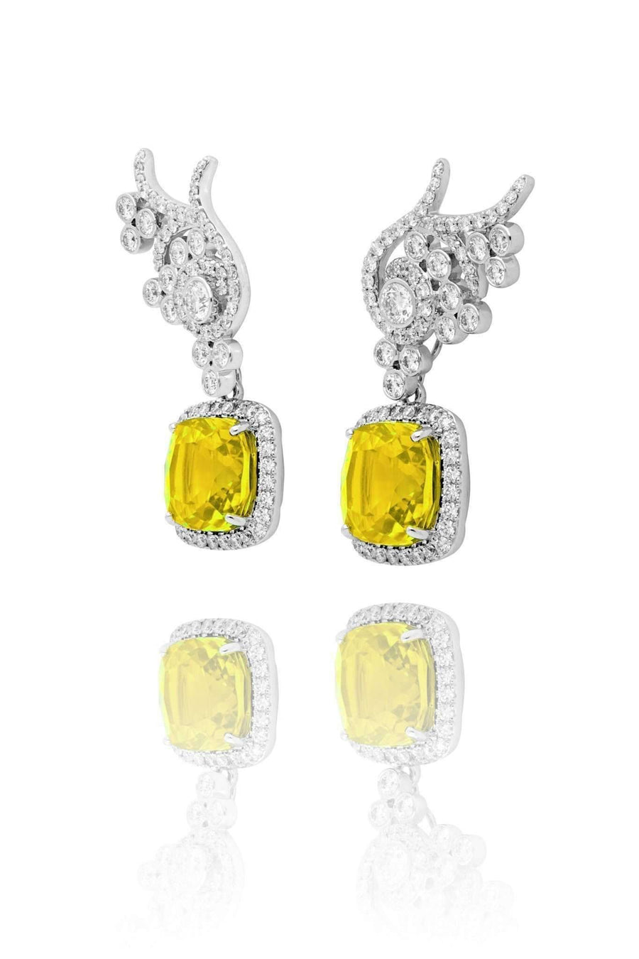 Flora Fancy Yellow Sapphire Detachable Drops Drops Lark and Berry