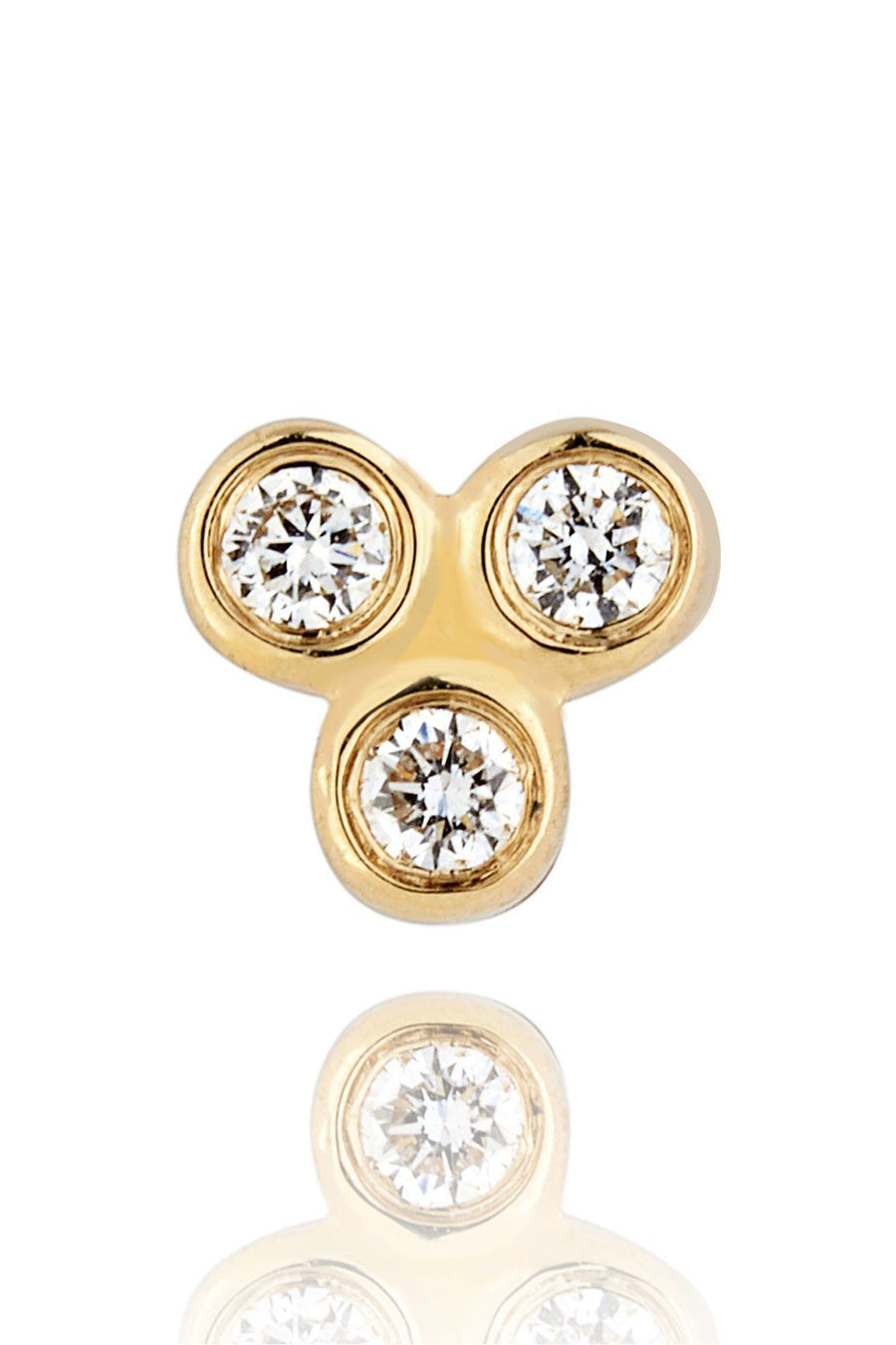 Trinity Diamond Mini Stud Earrings Earrings Lark and Berry