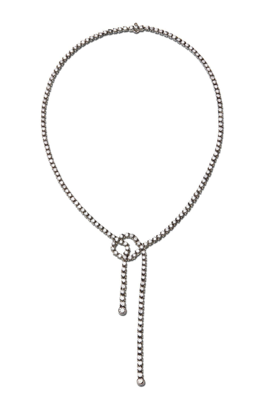 Knot Diamond Necklace Necklaces Lark and Berry