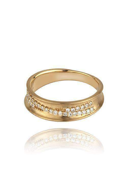 Dune Slim Diamond Band Rings Lark and Berry
