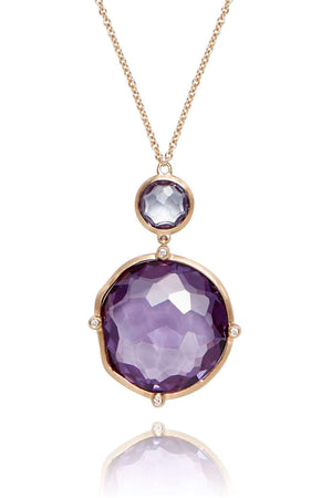 Dune Purple Sapphire Pendant Necklaces Lark and Berry