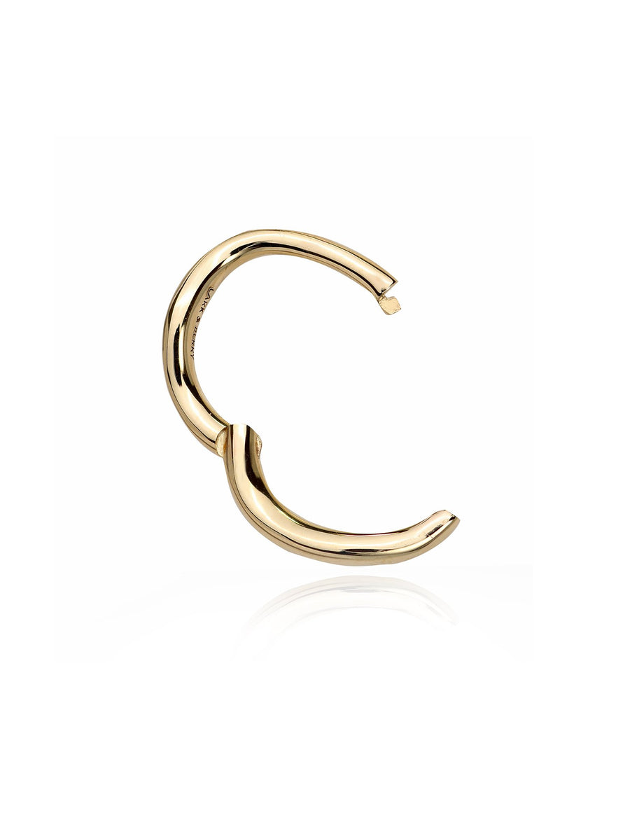 Dune Organic Small Hoop 10mm (Single) in 14K Yellow Gold
