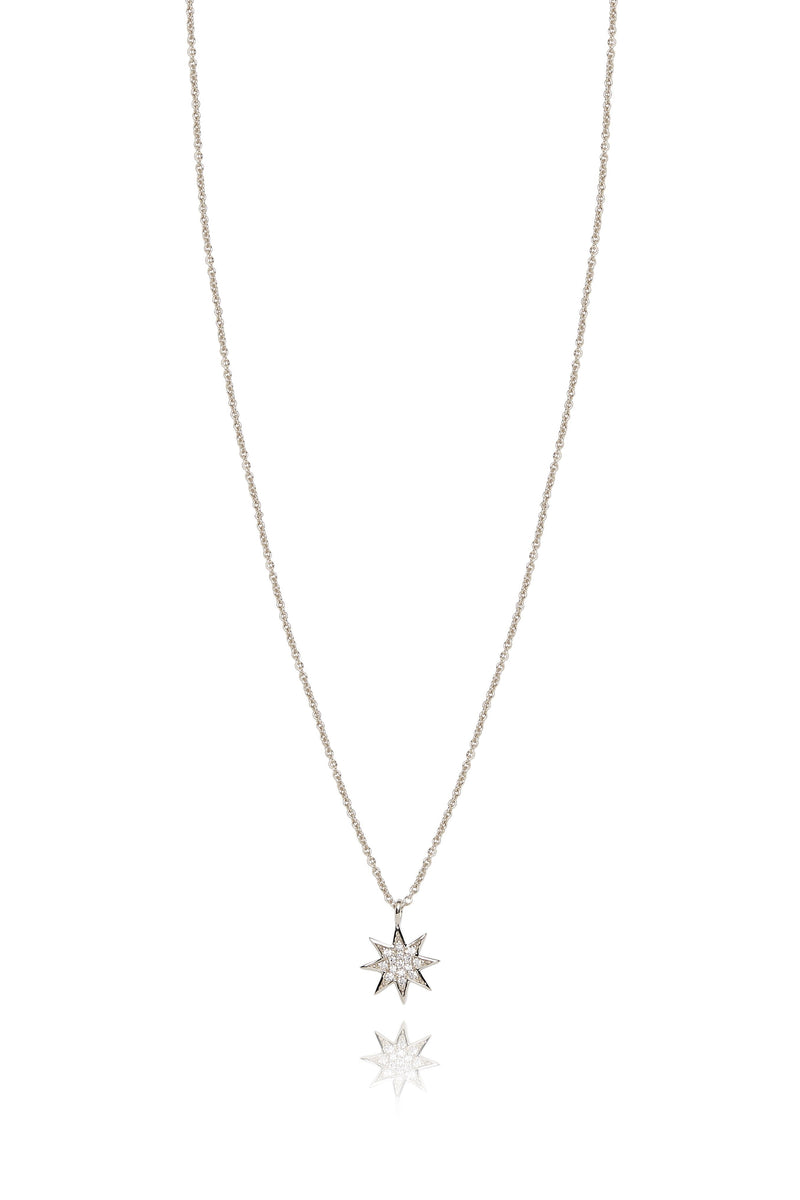 Silver and Diamonds Star Pendant Lark and Berry