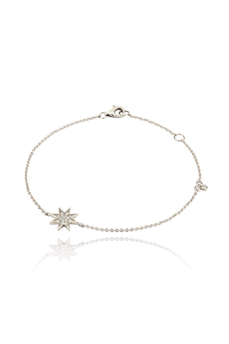 Silver and Diamonds Star Bracelet Lark and Berry