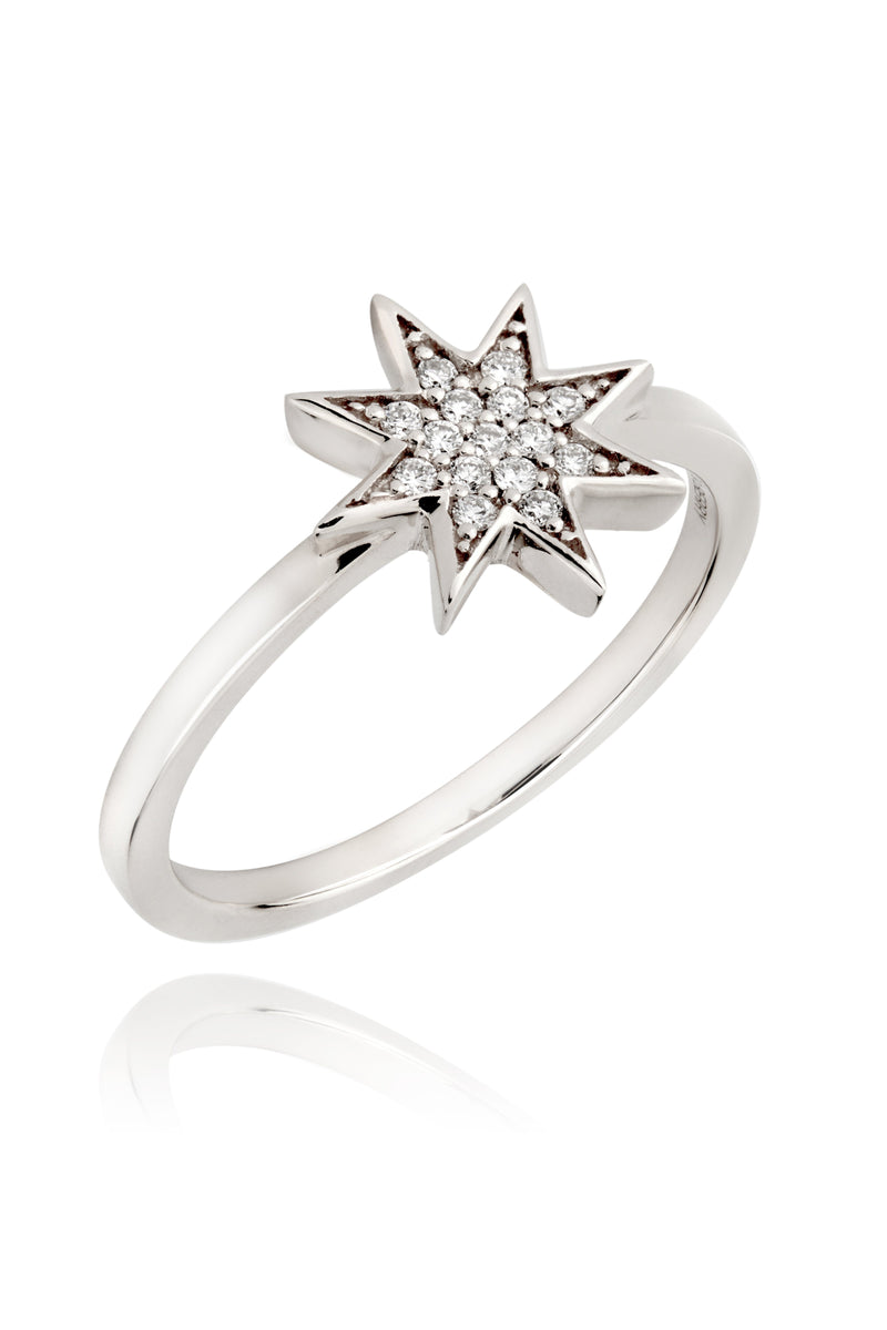 Silver and Diamonds Star Ring Lark and Berry