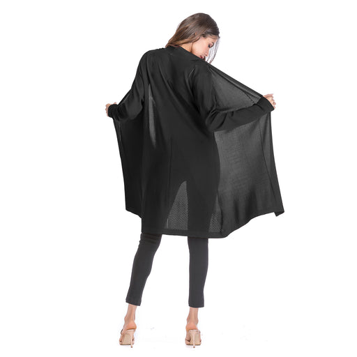 Long Cardigan Open Long-sleeved Knitted Women's Cloak - iSagax
