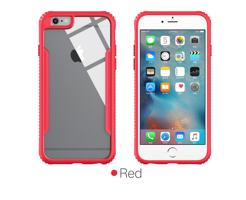 iPhone Case Silicone Case with Glass Screen for iPhone 6/6 Plus/7/7 Plus/X - iSagax