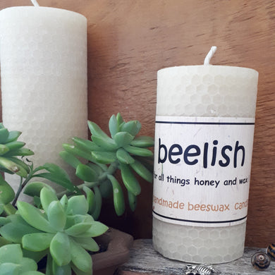 Beeswax Rolled Candle 10cm x 5cm