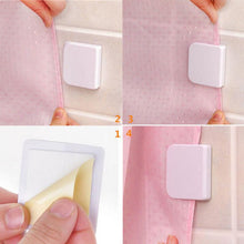 Load image into Gallery viewer, 2 PCS Self-Adhesive Shower Curtain Clips