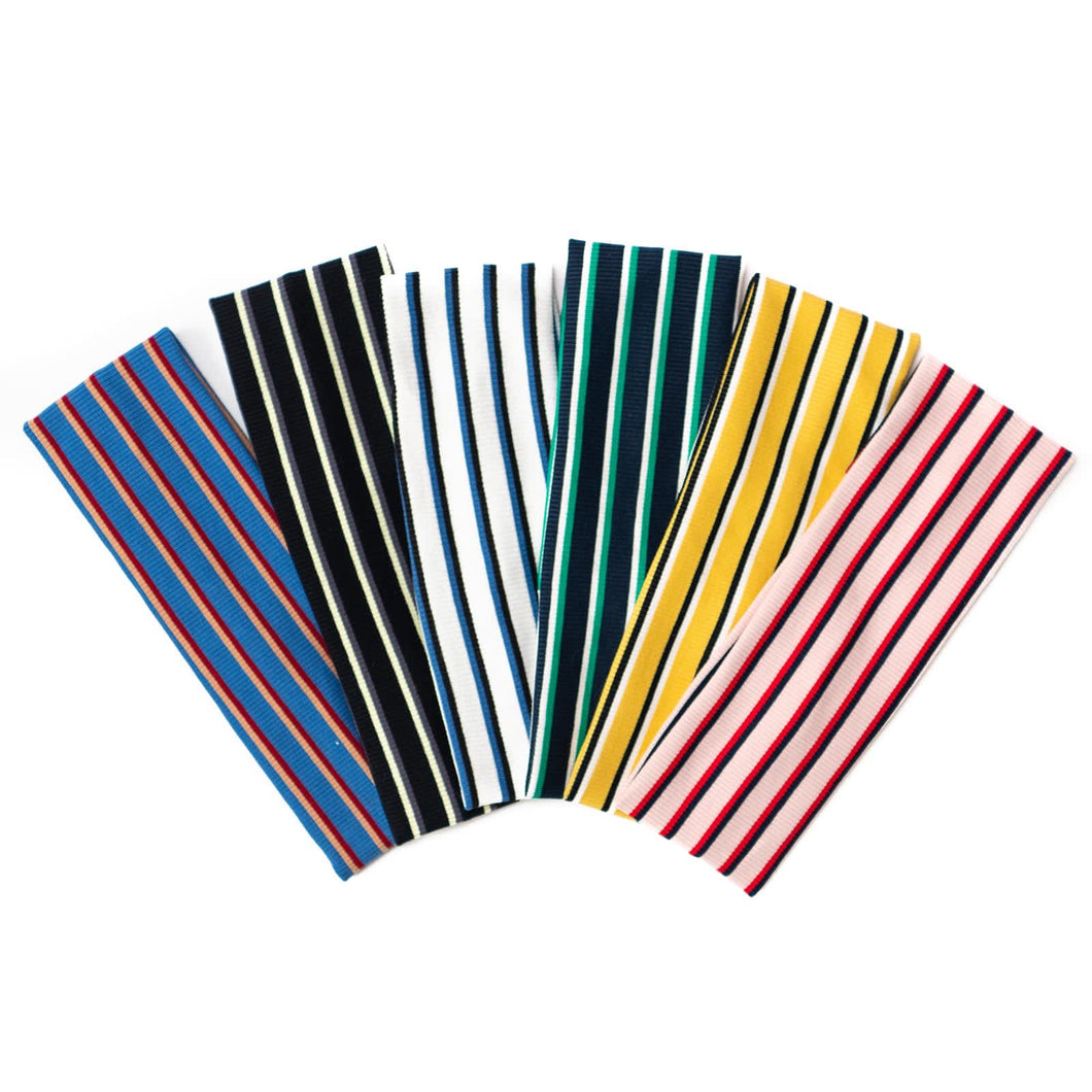 The Preppy Striped Headbands (Skinny Width)