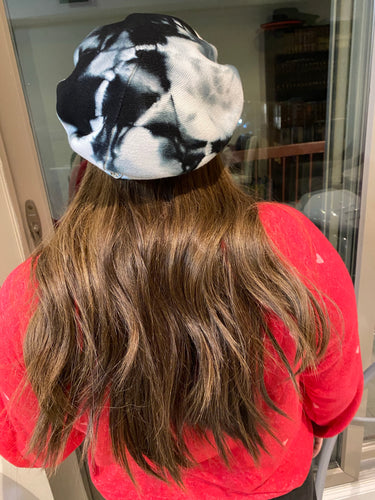 "Marble Tie Dye ""cashmere"" berets"