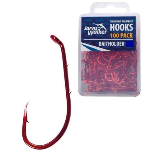 Jarvis Walker Red Baitholder Hooks