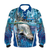 Tackleworld Mens/Boys Barramundi Longsleeve Sun Shirts