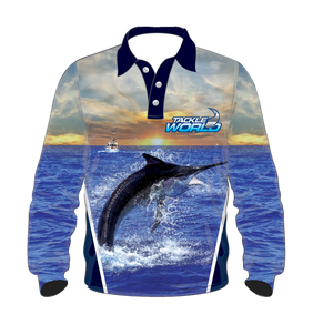 Tackleworld Mens/Boys Marlin Longsleeve Sun Shirts