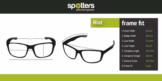 Spotters Riot Matt Black Ice