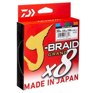 Daiwa J-Braid Grand x8U Multi-Coloured