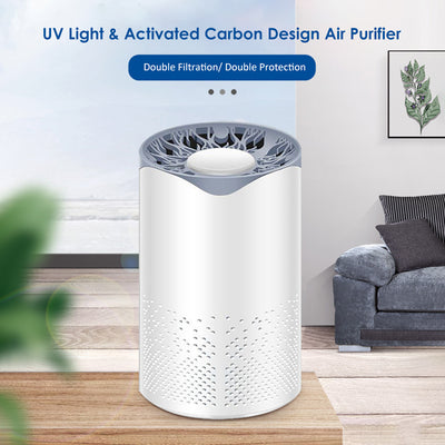 Cleaner UV lamp with Activated Carbon USB Charging Portable for Home Living Room