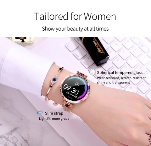 Fashion Women Smart Watch Heart Rate Blood Pressure Monitor - Vaghetti Deals Store