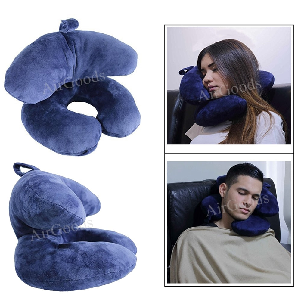 Comfortable Double Neck Travel Pillow for Long Time Travel - Vaghetti Deals Store