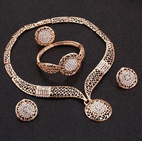 Fashion Jewelry Crystal Bridal Set Rhinestone - Vaghetti Deals Store