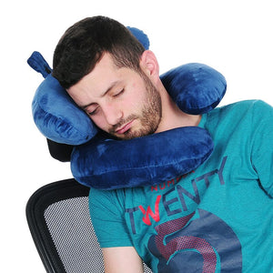 Comfortable Double Neck Travel Pillow  Holds the Head Perfectly - Vaghetti Deals Store