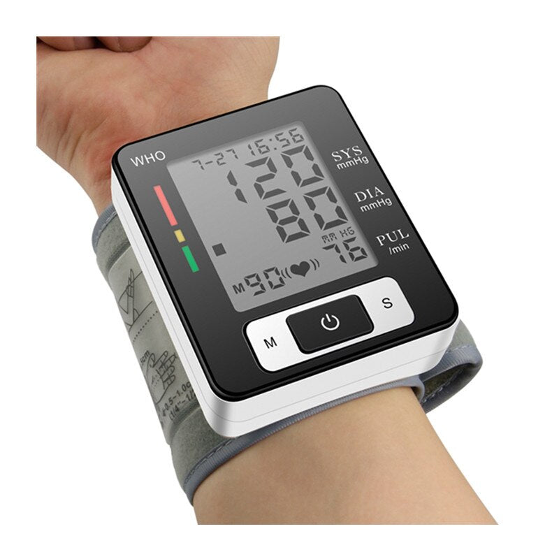 Automatic Wrist Electronic Blood Pressure Monitor Perfect for Health Monitoring - Vaghetti Deals Store