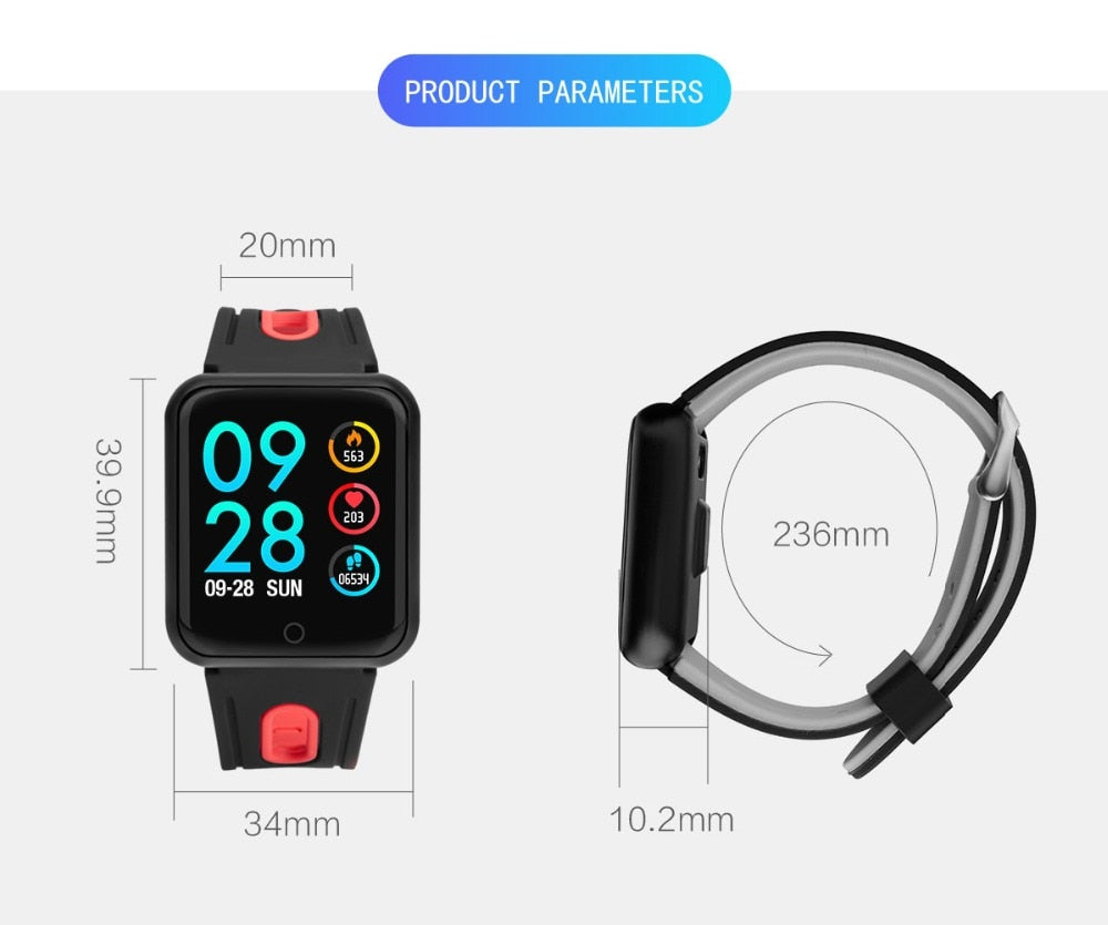 Smart Watch Fitness Tracker ECG Heart Rate Monitor Blood Pressure - Vaghetti Deals Store