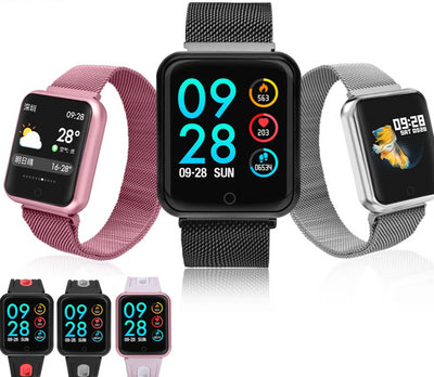 Smart Watch Fitness Tracker ECG Heart Rate Monitor Blood Pressure