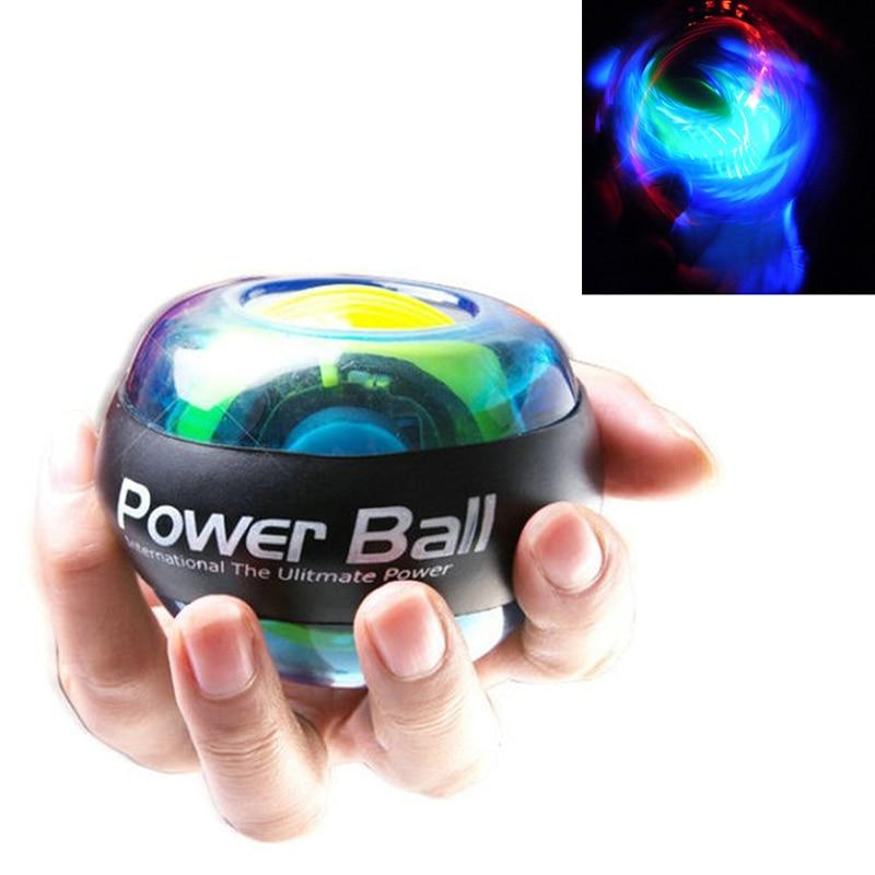 Power Ball Wrist Trainer Ball Forearm Exerciser Wrist Toy Spinner Gyro Ball with LED Lights (Transparent) - Vaghetti Deals Store