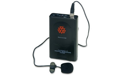 2200-00699-002 - Poly SoundStation Wireless Lapel Microphone, 203.400MHz - Refurb'd