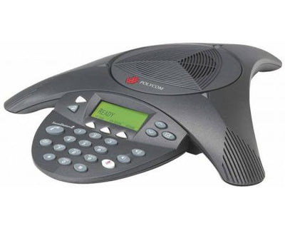 2200-16200-001 - Poly SoundStation2 Conference Phone, Expandable w/Display - Refurb'd
