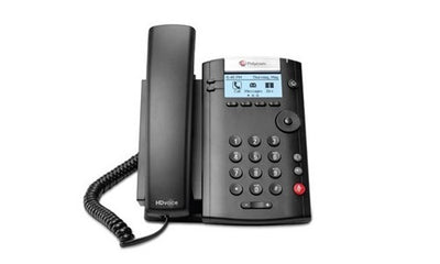 2200-40450-019 - Poly VVX 201 Desktop Phone, Skype for Business, PoE - Refurb'd