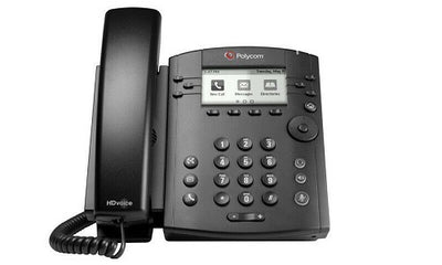 2200-48300-019 - Poly VVX 301 Desktop Phone, Skype for Business, PoE - Refurb'd