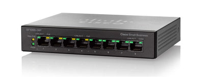 SF110D-08HP-NA - Cisco SF110D-08HP Unmanaged Small Business Switch, 8 Port 10/100 PoE - Refurb'd