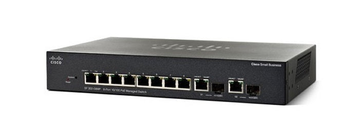 SF302-08MPP-K9-NA - Cisco Small Business SF302-08MPP Managed Switch, 8 Port 10/100, 124w PoE - New