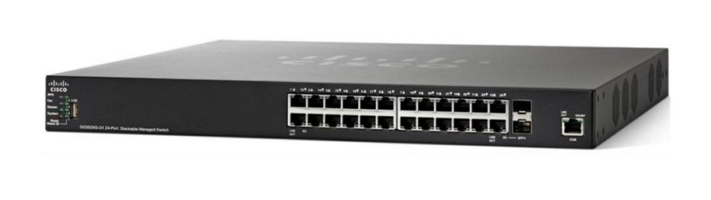 SF550X-24MP-K9-NA - Cisco SF550X-24MP Stackable Managed Switch, 24 10/100 and 4 10Gig Ethernet Ports, 382w PoE - Refurb'd