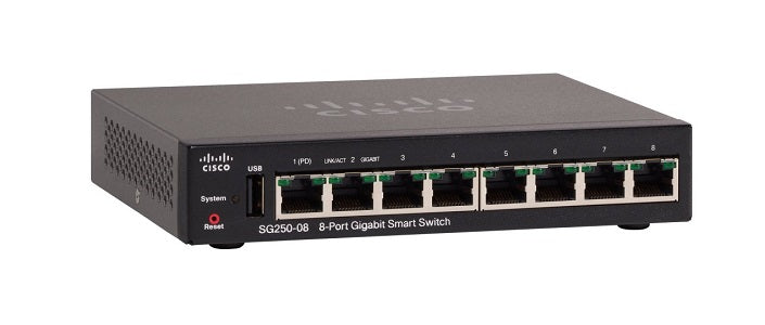 SG250-08-K9-NA - Cisco SF250-08 Smart Switch, 8 Port Gigabit - New