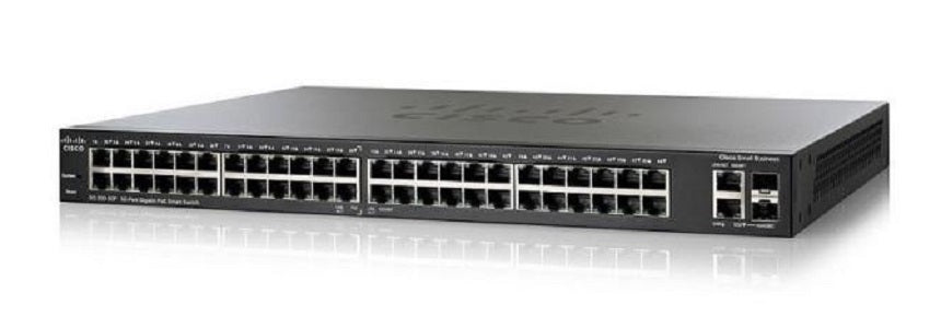 SG250-50P-K9-NA - Cisco SF250-50P Smart Switch, 48 Gigabit/2 SFP Combo Ports, 375w PoE - Refurb'd