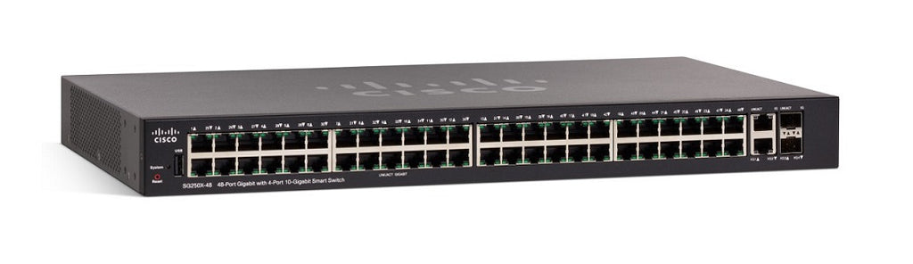 SG250X-48P-K9-NA - Cisco SF250X-48P Smart Switch, 48 Gigabit/4 10 Gigabit Ports, PoE - Refurb'd