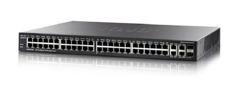 SG300-52P-K9-NA - Cisco Small Business SG300-52P Managed Switch, 50 Gigabit/2 Mini GBIC Combo Ports, 375w PoE - New