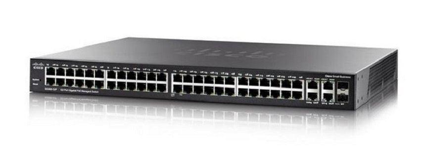 SG350-52P-K9-NA - Cisco Small Business SG350-52MP Managed Switch, 48 Gigabit with 2 Gigabit SFP Combo & 2 SFP Ports, 740w PoE - New