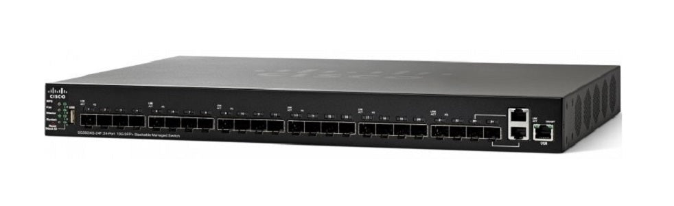 SG350XG-24F-K9-NA - Cisco SG350XG-24F Stackable Managed Switch, 24 10Gig SFP+ and 2 10GBase-T Ports - New