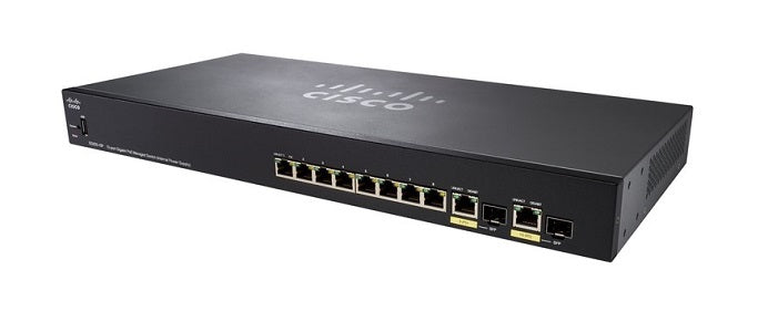 SG355-10P-K9-NA - Cisco Small Business SG355-10P Managed Switch, 8 Gigabit Ehternet and 2 Gigabit SFP Combo Ports, 62w PoE - Refurb'd
