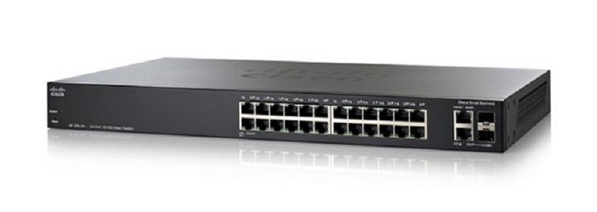 SLM224PT-NA - Cisco SF200-24P Small Business Smart Switch, 24 Port 10/100, PoE - New