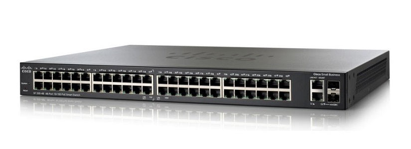 SLM248PT-NA - Cisco SF200-48P Small Business Smart Switch, 48 Port 10/100, PoE - New