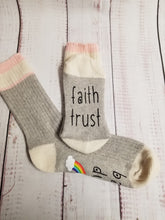 Load image into Gallery viewer, Faith trust baby dust rainbow, Lucky Socks, Rainbow Baby, fertility socks - My Other Child