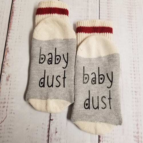 Baby Dust, Lucky socks, lucky fertility socks - My Other Child