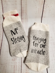 IVF Strong socks, Praying for our miracle, lucky socks - My Other Child