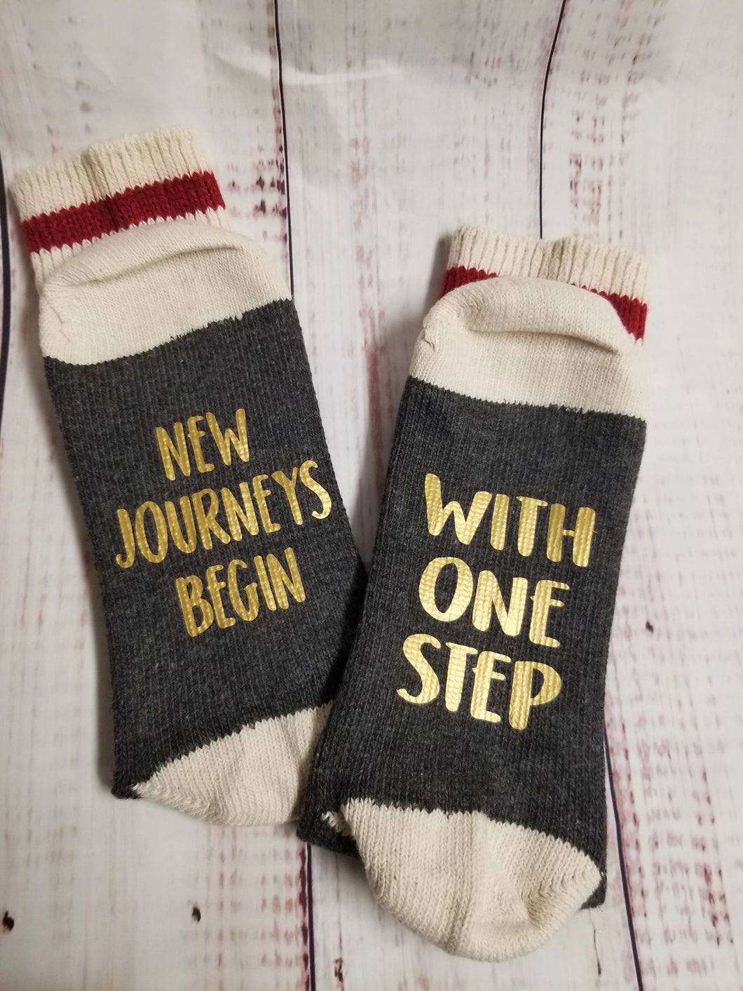 New journey begins with one step, Prayer Socks, Lucky Socks, IVF Socks - My Other Child